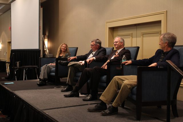 Susan Hassol, Greg Fishel, Jim Gandy, and David Salvesen. (Photo courtesy of the Carolinas RISA Twitter account.)